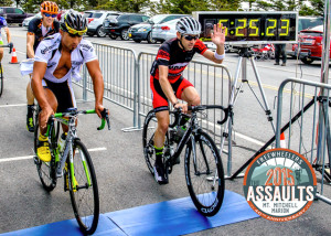 The finish line of the 2015 Assault on Mount Mitchell